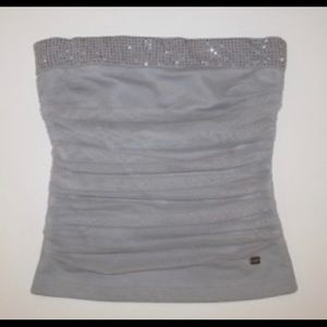 Lipsy London Crystal sparkle tube crop Top XS 0 2